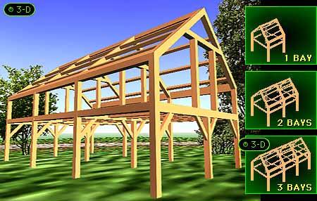 Timber frame houses triple bay timber frames for 3 bays